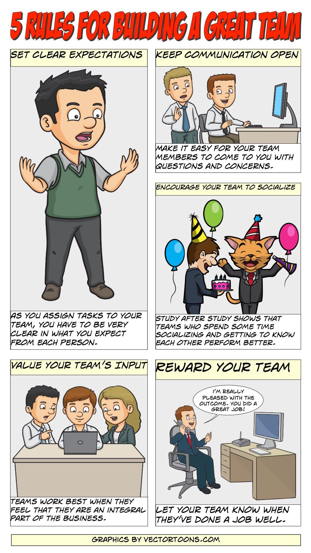5 Rules For Building A Great Team