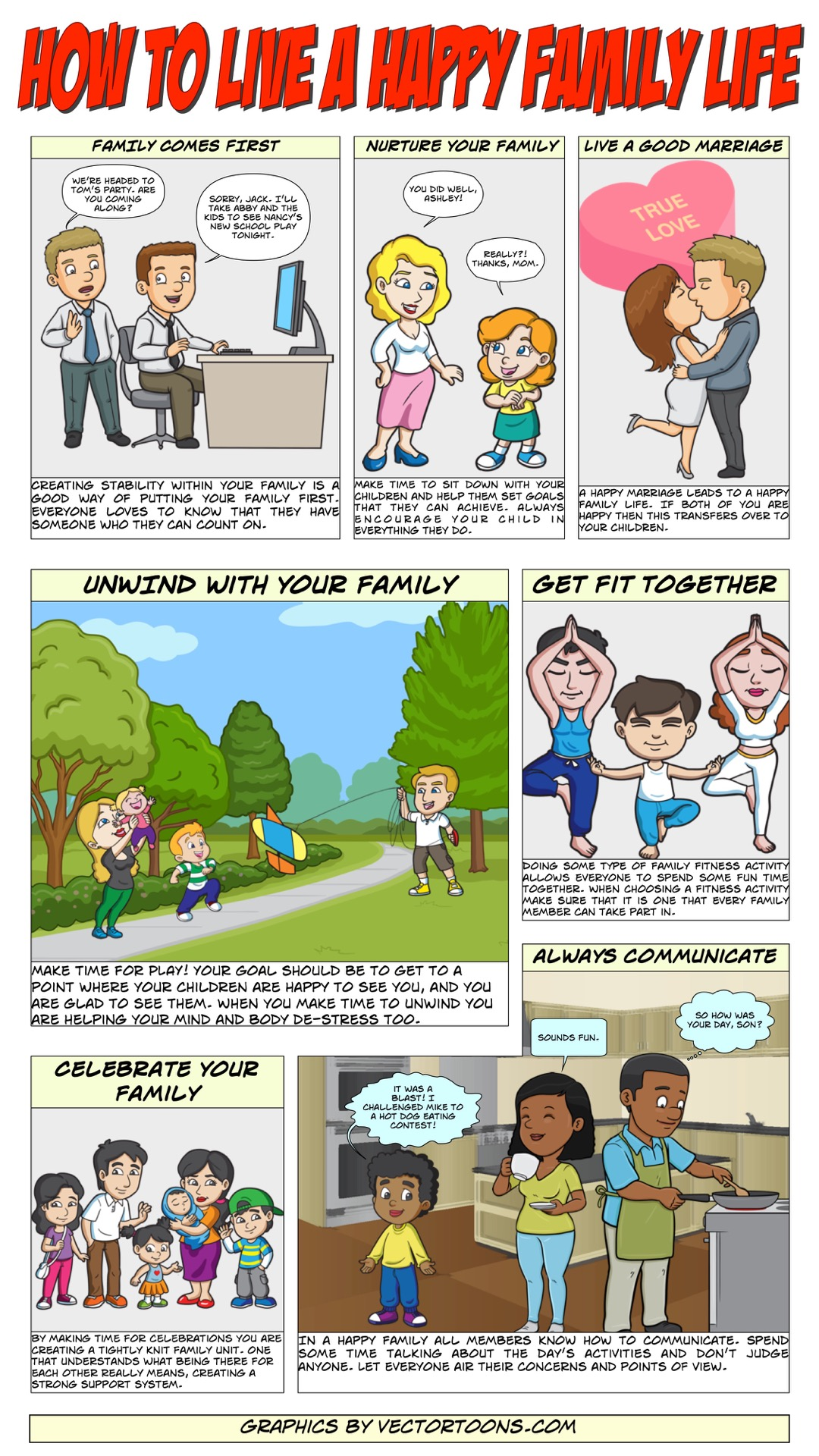 How To Live A Happy Family Life